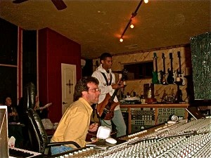 Tim in the studio with legendary Jazz guitarist Stanley Jordan.