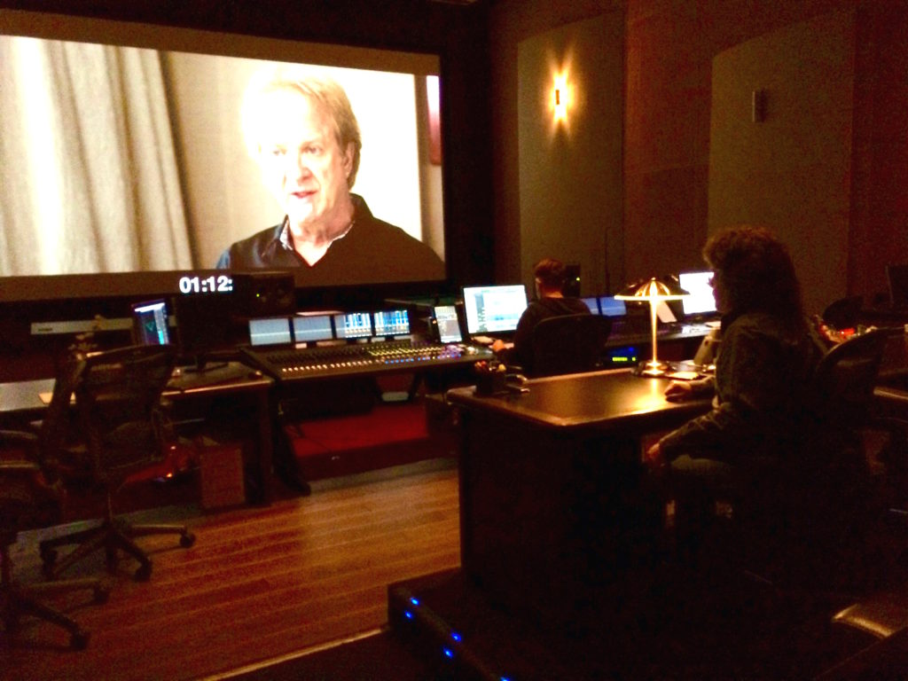 "tim jessup in hollywood studio doing final 5.1 mix down of  the Chicago documentary, ""Now More Than Ever""."